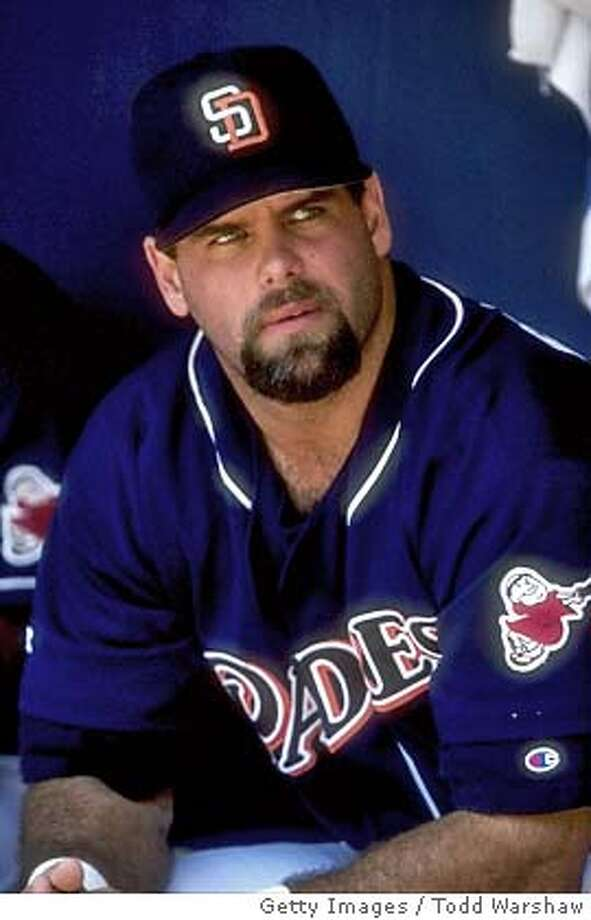 SAN DIEGO, CA - JUNE 27, 1998: (FILE PHOTO) A portrait of Ken Caminiti #21 of the San Diego Padres taken in the dugout during the Interleage game against the California Angels at Qualcomm Stadium in San Diego, California. Ken Caminiti, a former National League MVP, reportedly died of a heart attack October 10, 2004 in New York City. (Photo by Todd Warshaw/Getty Images) *** Local Caption *** Ken Caminiti (FILE PHOTO) Sports#Sports#Chronicle#10/12/2004#ALL#5star##0422406880 Photo: Todd Warshaw