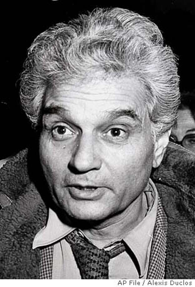 ** FILE ** Dec.2, 1981 file photo of French philosopher Jacques Derrida. Derrida, 74, the founder of the deconstructionist school, has died of cancer in a Paris hospital early Saturday Oct 9, 2004, according to the office of the French President. (AP Photo/Alexis Duclos, files) Photo: ALEXIS DUCLOS