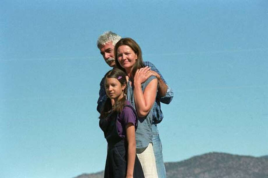 The Groden family, Charley (SAM ELLIOTT), Arlene (JOAN ALLEN) and their daughter Bo (VALENTINA DE ANGELIS) in Holedigger Studios' Off the Map. Ran on: 04-01-2005  The Groden family (played by Sam Elliott, Joan Allen and Valentina de Angelis) live off the land in &quo;Off the Map.&quo;