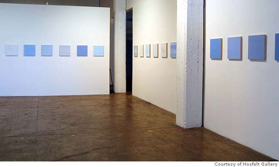 GALS09 Byron Kim  Sunday Paintings, 2003-4  installation view  Courtesy Hosfelt Gallery, San Francisco Datebook#Datebook#Chronicle#10/9/2004#ALL#Advance##0422399749