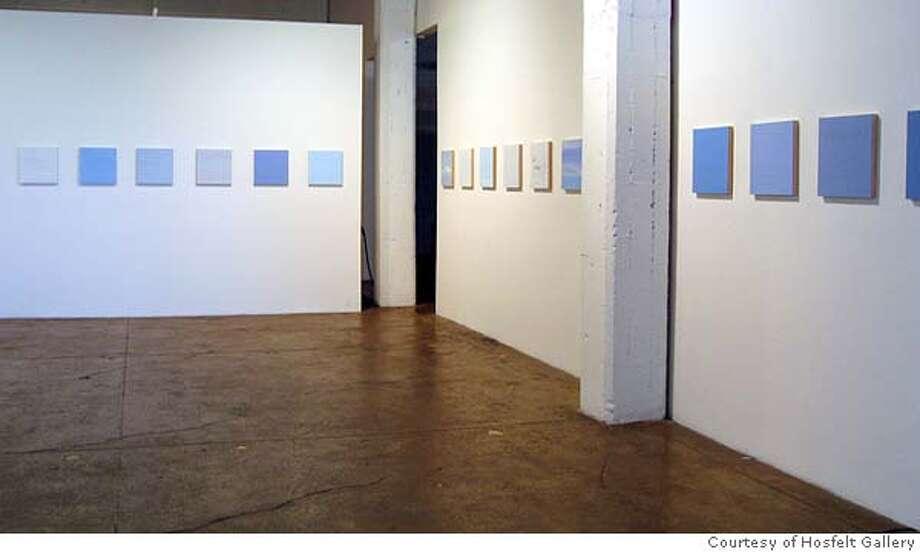 GALS09 Byron Kim  Sunday Paintings, 2003-4  installation view  Courtesy Hosfelt Gallery, San Francisco Datebook#Datebook#Chronicle#10/9/2004#ALL#Advance##0422399749