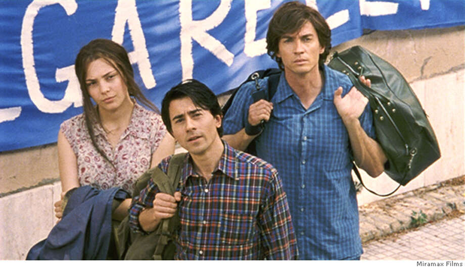 BLUE31_02.JPG (From Left to Right) Jasmine Trica, Luigi Lo Cascio and Alessio Boni star in Marco Tullio Giordana�s THE BEST OF YOUTH. Photo Courtesy of Miramax Films