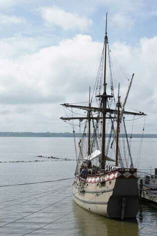 Trav Jamestown 5 - Anchored at the Jamestown Settlement are replicas of the three ships that landed in Jamestown in 1607. Costumed interpreters tell visitors about life at sea.  PHOTO BY KATHLEEN SCOTT Special to the Express-News.
