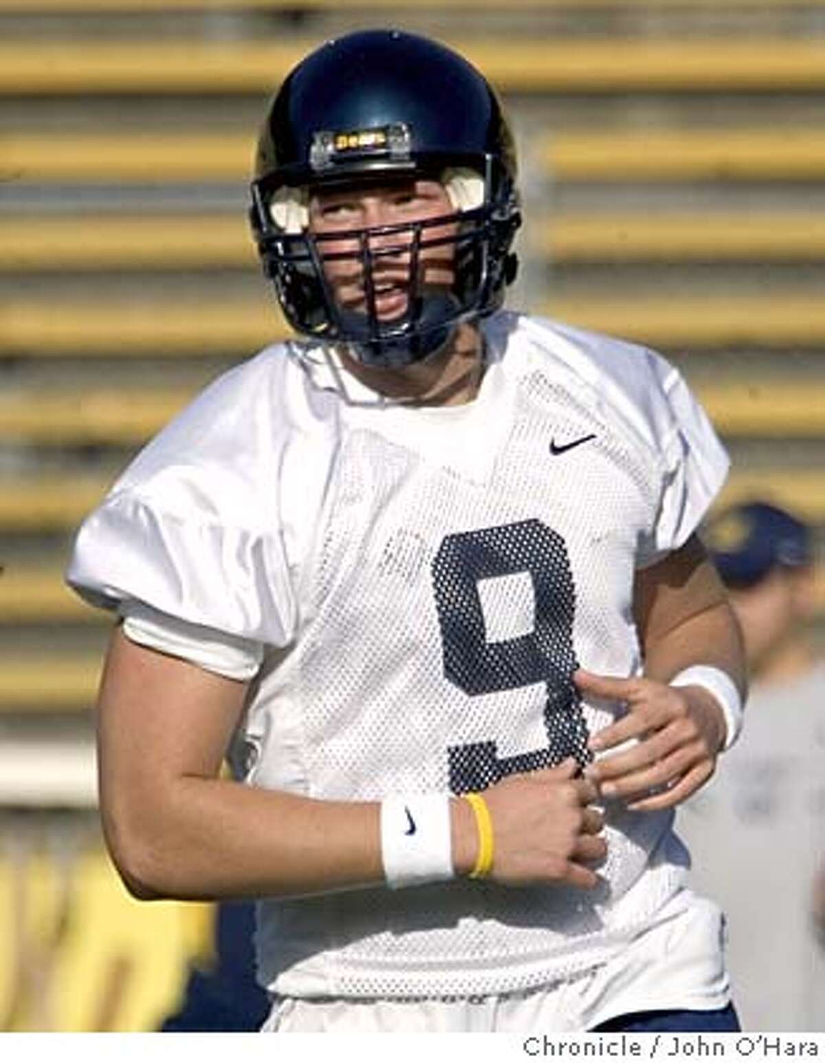 UC BERKELEY, MEMORIAL STADIUM Spring football practice. #9, NATHAN LONGSHORE, QB photo by: John O'Hara