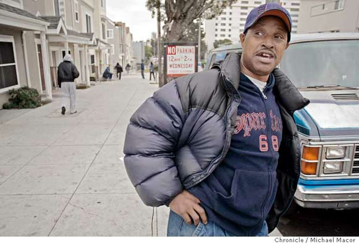 1/25/05 Kevin Williams has a daughter and grandson that live in the Buena Vista Plaza East housing along Buchanan St. in San Francisco. SF's HOPE VI projects...these are the crime infested public housing projects that were torn down and rebuilt in effort to fix the communities. Is HOPE VI a success? We check out Plaza East, which reopened about 2 years ago. San Francisco, Ca Michael Macor / San Francisco Chronicle