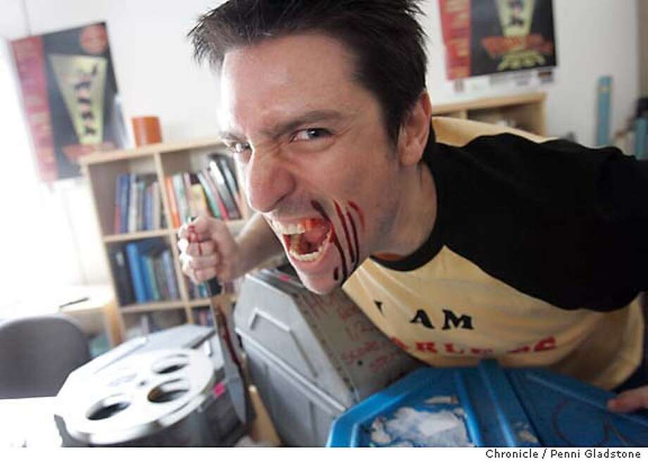 FEARLESS27029PG.JPG Michael Davidson, is putting on the first Fearless Tales horror film festival in San Francisco. 3/17/05 San Francisco Chronicle/ Penni Gladstone