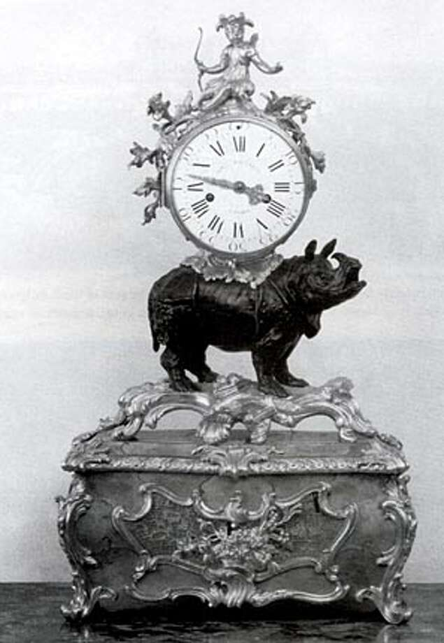 Clara's image appeared in artifacts such as this clock.