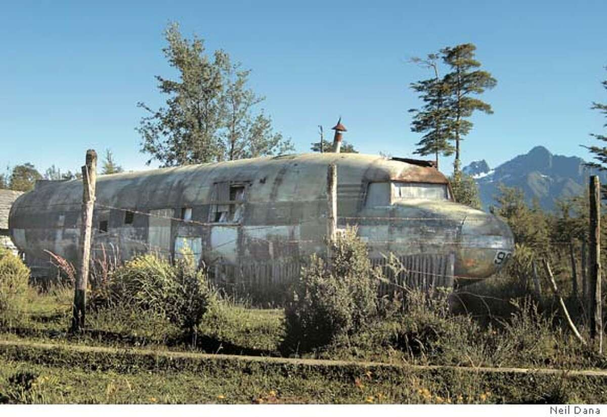 A Chilean Air Force DC-3 that was turned into a house after it crash-landed. Photo by Neil Dana