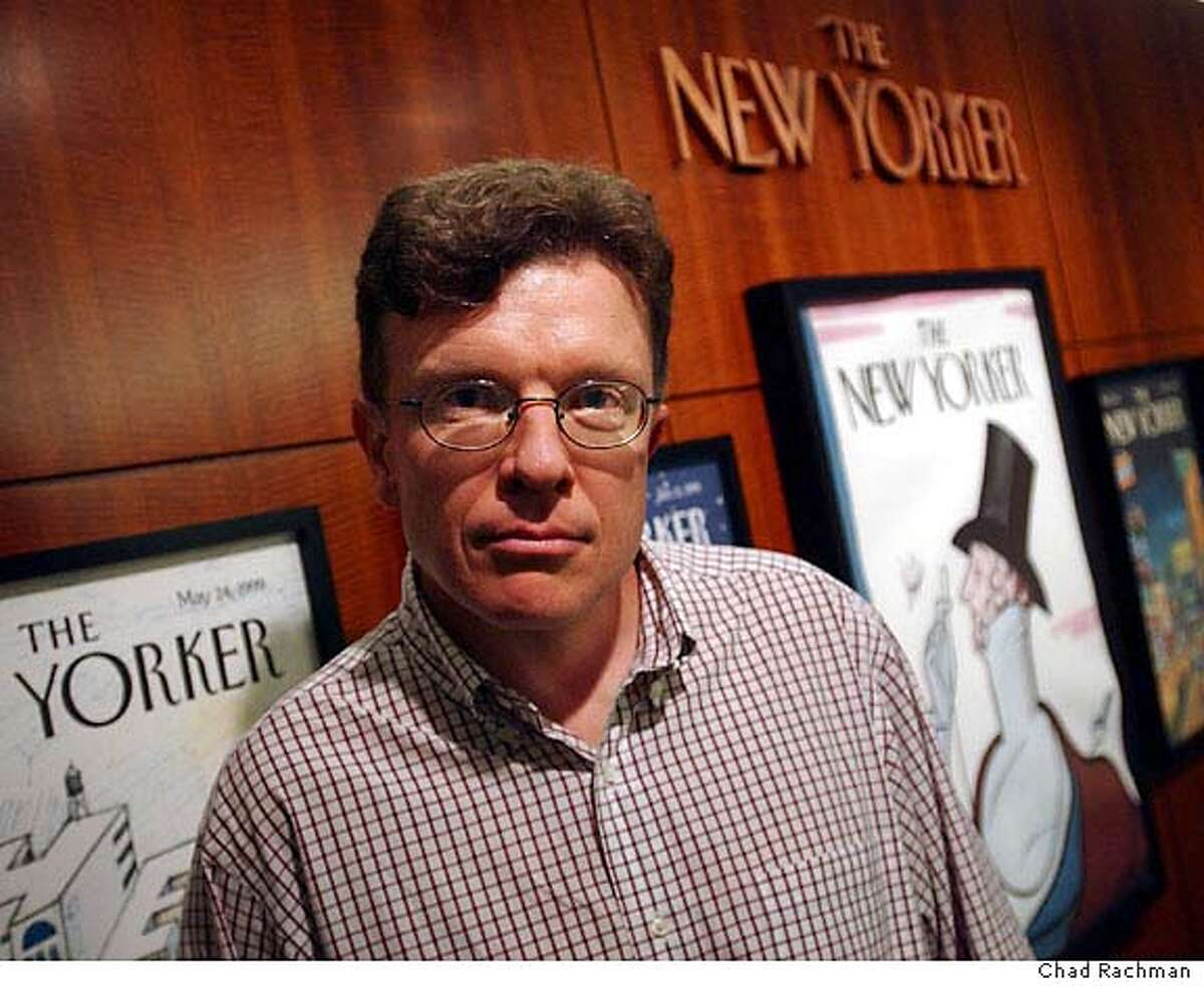 New Yorker Magazine correspondent Tad Friend poses at the magazine's New York offices Thursday, Sept. 23, 2004. (Photo/Chad Rachman) Living#Living#Chronicle#10/03/2004#ALL#Advance#F1#0422372197