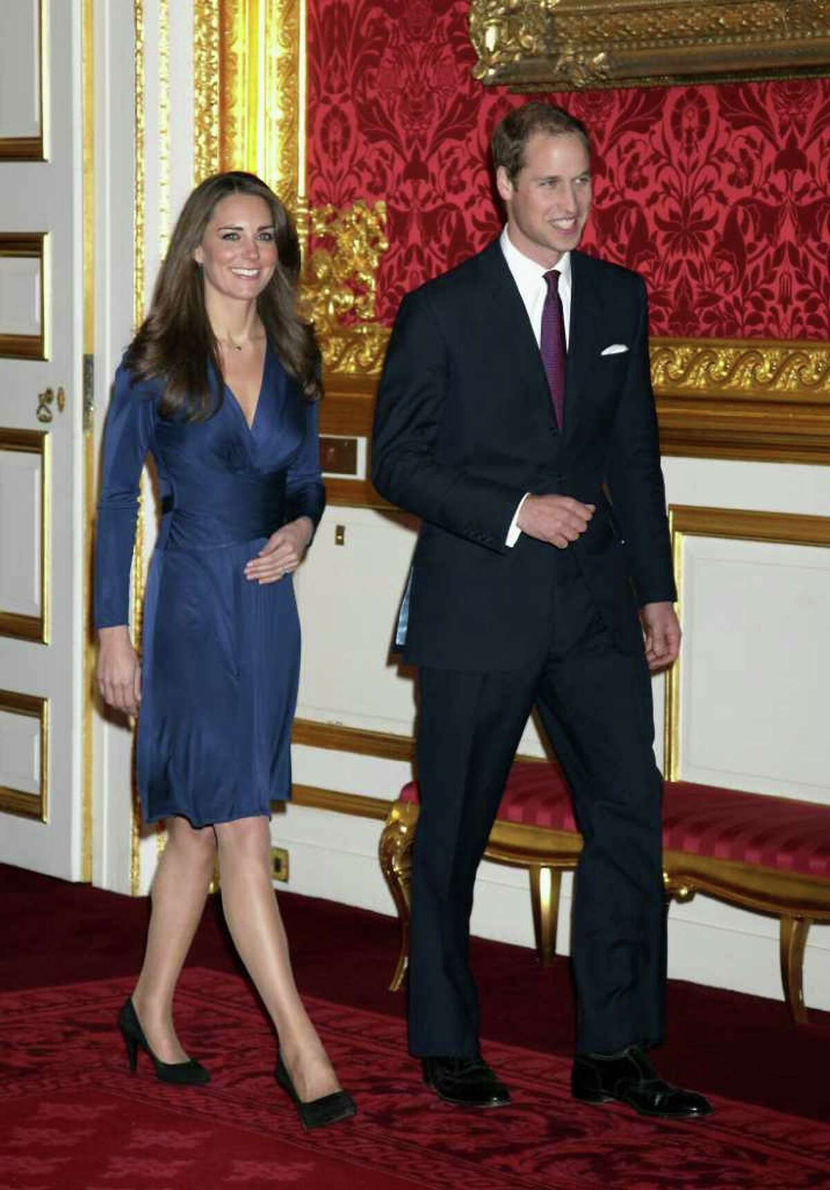 The world watched as the beaming royal couple prepared to announce their engagement in November, 2010.