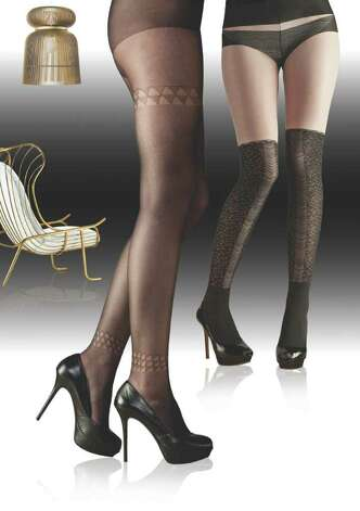 "A 2012/2013 legwear trend from Invista is this look called ""Dressed Up."" Note the subtle details and decorations including tromp l'oeil designs"