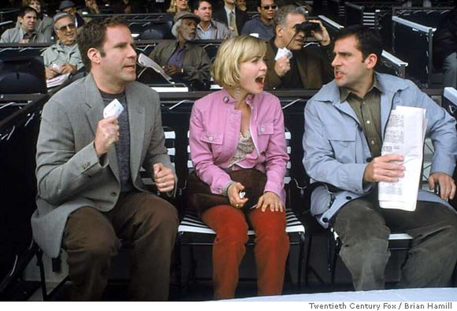 MELINDA23 From left: Will Ferrell, Radha Mitchell and Steve Carell in MELINDA AND MELINDA. Photo Credit: Brian Hamill/Twentieth Century Fox Ran on: 03-23-2005  Will Ferrell, Radha Mitchell and Steve Carell (from left) star in the comedic portion of &quo;Melinda and Melinda.&quo; Things also turn tragic. Ran on: 03-23-2005