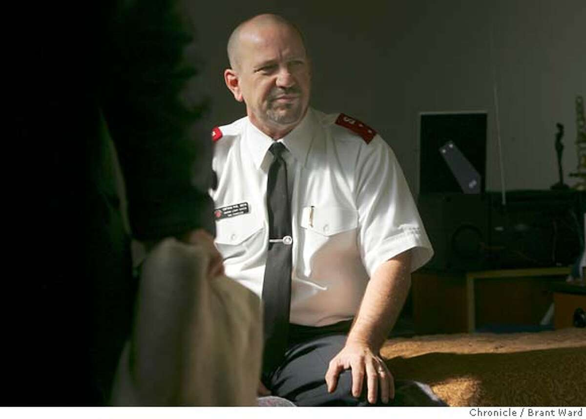 Captain Phil Smith of the Salvation Army sat in the shelter area of their Harbor Light building on Harrison Street and talked about his experience. At last month's