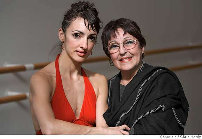 feijoos_ch_196.jpg Lorena and Lupe Feijoo, SF Ballet dancer and her mother, who teaches ballet at City Ballet in San Francisco 3/16/05 Chris Hardy / San Francisco Chronicle