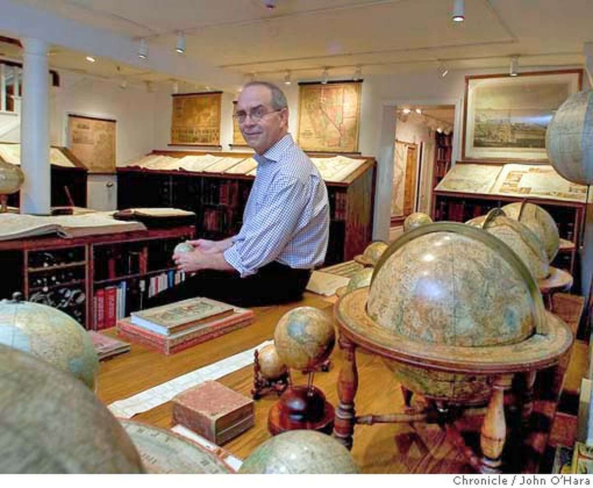 San Francisco, CA David Rumsey, has a collection of maps 150,000 plus. A web site that is beyond words, a production office for high resolution scans of maps. And a libary of maps and books. Photo/John O'Hara