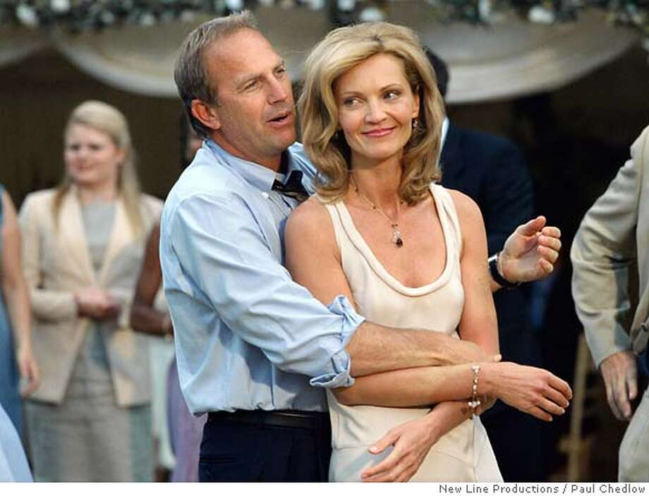 "In this photo provided by New Line, Kevin Costner (left) as Denny and Joan Allen as Terry in New Line Cinemas upcoming comedic drama, ""The Upside of Anger."" (AP Photo/New Line Productions/ Paul Chedlow) Photo: PAUL CHEDLOW"
