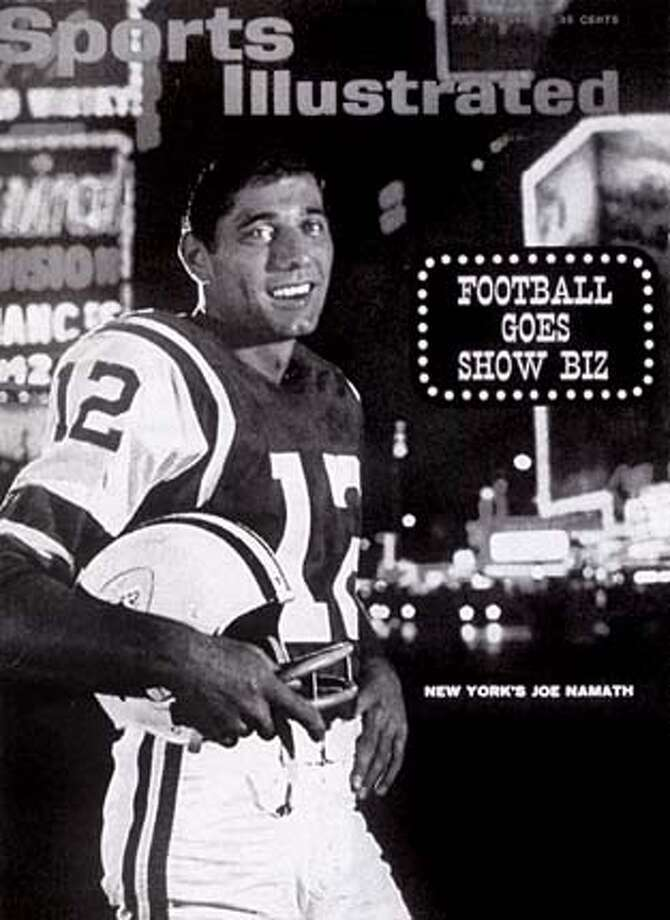 "Joe Namath on the cover of Sports Illustrated, July 19, 1965. Photo from ""Namath"""