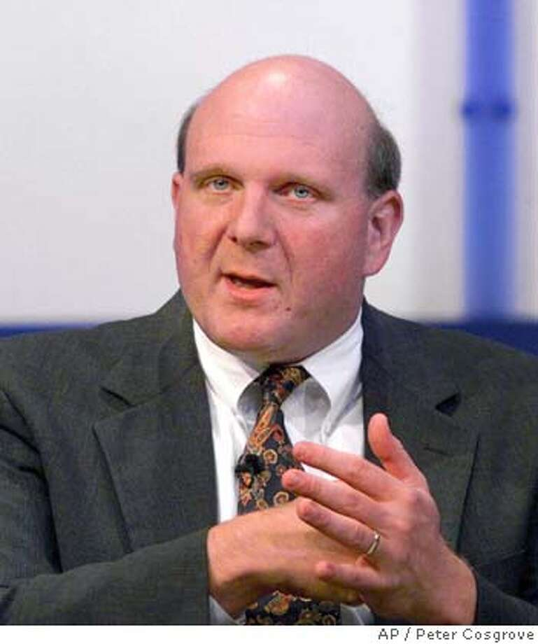 President of Microsoft Steve Ballmer fields a question during a town hall meeting at the Gartner Group Symposium in Lake Buena Vista, Fla., Wednesday, Oct. 13, 1999. Microsoft chairman Bill Gates on Thursday, July 13, 2000, promoted longtime friend and Steve Ballmer to chief executive officer of the software giant(AP Photo/Peter Cosgrove) CAT Photo: PETER COSGROVE