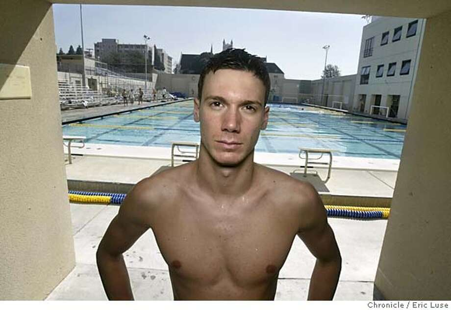 calswimmer_0008_el.jpg  Duje Draganja, UC Berkeley swimmer won five first places at the recent Pac-10 championships and now is preparing for the NCAA championships. Was an Olympic silver medalist for Croatia in Athens.  Event on 3/8/05 in Berkel;ey. Eric Luse / The Chronicle MANDATORY CREDIT FOR PHOTOG AND SF CHRONICLE/ -MAGS OUT Photo: Eric Luse