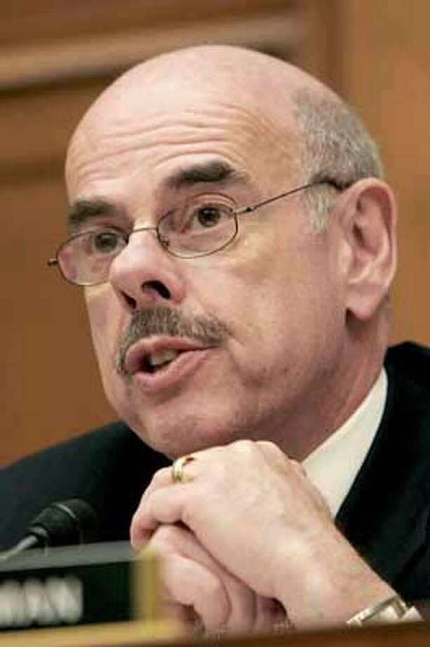 "Photo by Rick McKay/Washington Bureau  slug: COX-OVERCLASSIFY03  WASHINGTON... Rep. Henry A. Waxman,D-Ca., questions a witness Wednesday, March 2, 2005, at a House hearing on the overclassification of government documents. ""The American people understand that some information must be kept secret to protect the public safety,"" Waxman said. ""But when the government systematically hides information from the public, government stops belonging to the people."" (Photo by Rick McKay/Washington Bureau) Ran on: 03-14-2005  Rep. Henry Waxman says Barry Bonds &quo;may come before us at some future hearing.&quo; Ran on: 03-14-2005  Rep. Henry Waxman says Barry Bonds &quo;may come before us at some future hearing.&quo; Photo: RICK MCKAY"