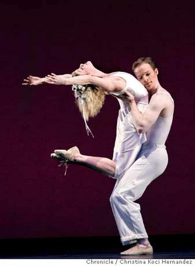 Elizabeth Miner and (R) Matthew Stewart.The San Francisco Ballet dress rehersal schedule for Program 5 for review .CHRISTINA KOCI HERNANDEZ/CHRONICLE Photo: CHRISTINA KOCI HERNANDEZ