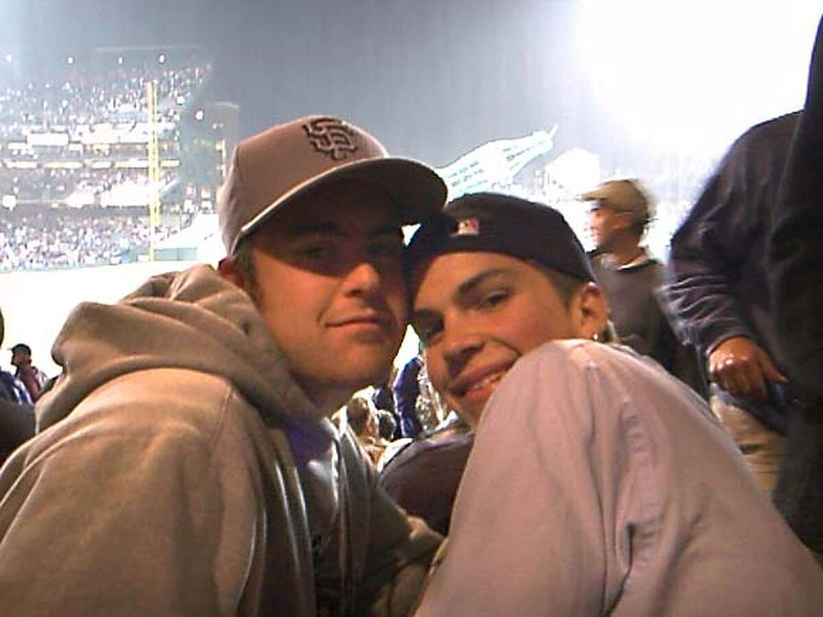 Timothy Griffith with brother Josh at Opening Series in 2000.