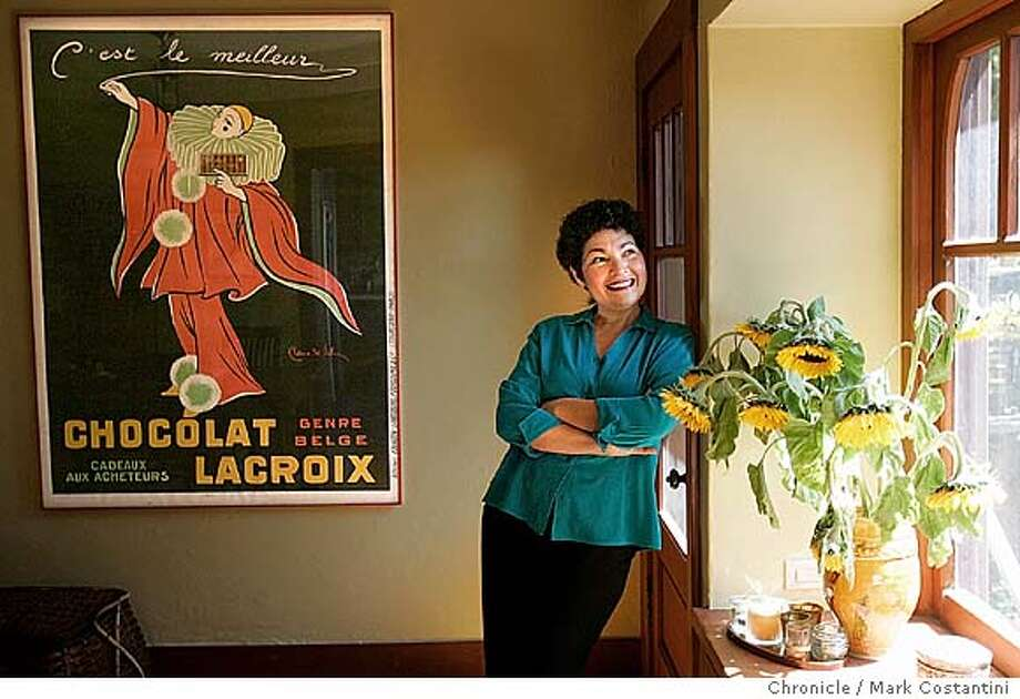 Home and Garden story about Alice Medrich, who collects old posters of chocolate. Today, her collection includes between 40 and 50 posters, which, she says, she still finds whimsical and enchanting. Event on 9/4/04 in BERKELEY. S.F. Chronicle Photo: Mark Costantini Photo: Mark Costantini