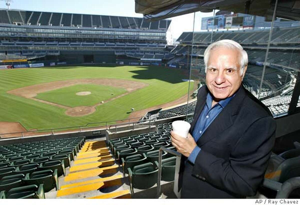 Lew Wolff, new owner of the Oakland A's tours the McCafee Coliseum in Oakland in 2005. Wolff has been waiting for years for his old fraternity brother, commissioner Bud Selig, to tell him whether he can go ahead with his outline to move the A's from Oakland into Santa Clara County even though the San Francisco Giants hold the territorial rights in technology-rich Silicon Valley.