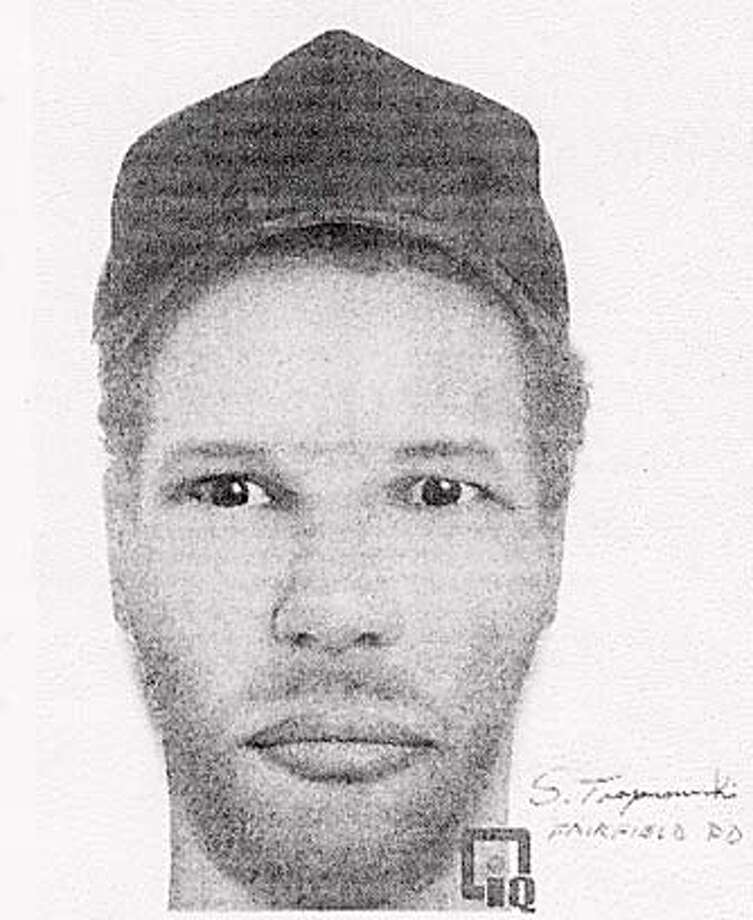 Police sketch of suspect in several carjackings in the Bay Area.  Police handout