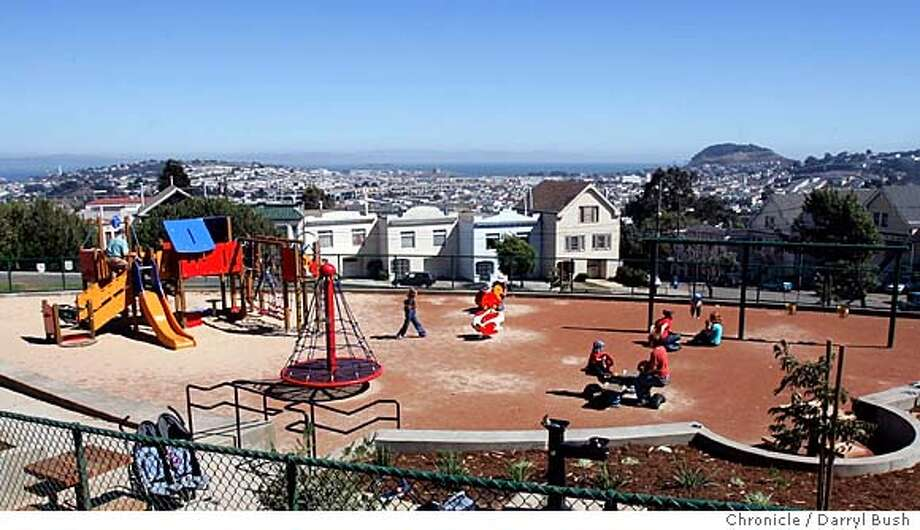Holy Park in Bernal Heights has a new makover. 9/10/04 in San Francisco  Darryl Bush / The Chronicle Photo: Darryl Bush