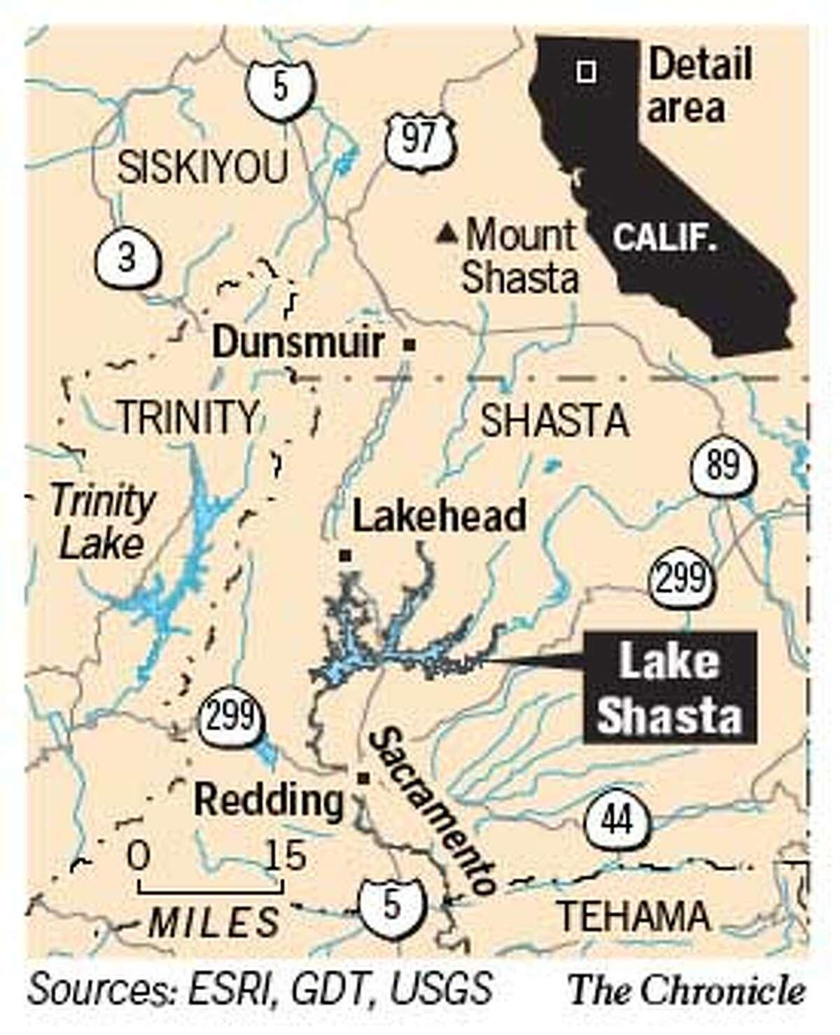 Lake Shasta. Chronicle Graphic