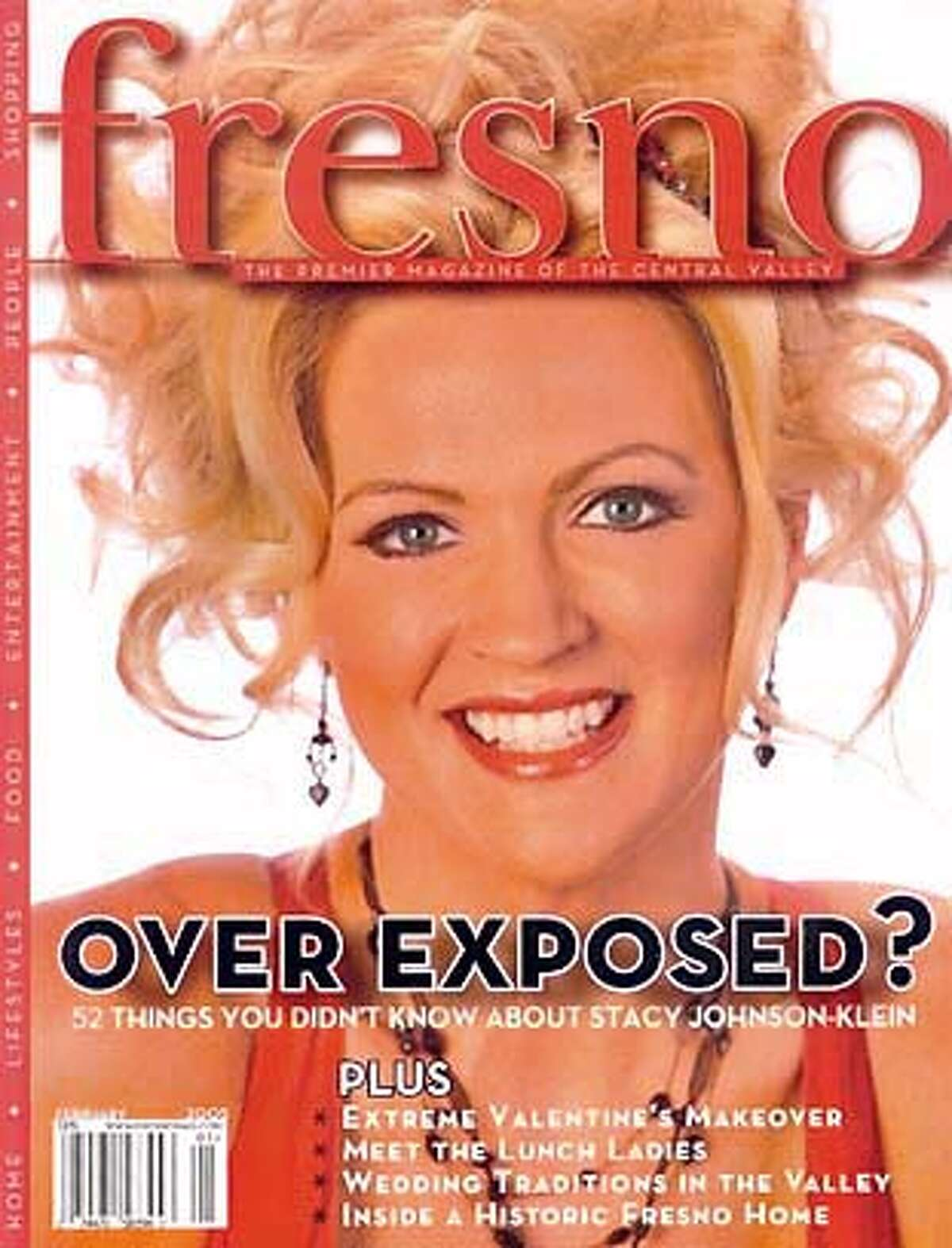 The cover of the January 2005 Fresno magazine, featuring a photo of California State University, Fresno Women's basketball coach Stacy Johnson-Klein, is shown in this scanned image.