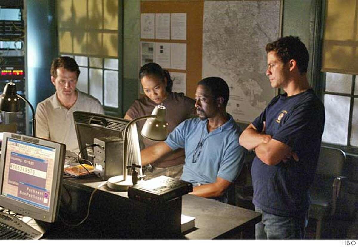 GOODMAN15.JPG THE WIRE: Jim True-Frost, Sonja Sohn, Clarke Peters, Dominic West. Paul Schiraldi / HBO