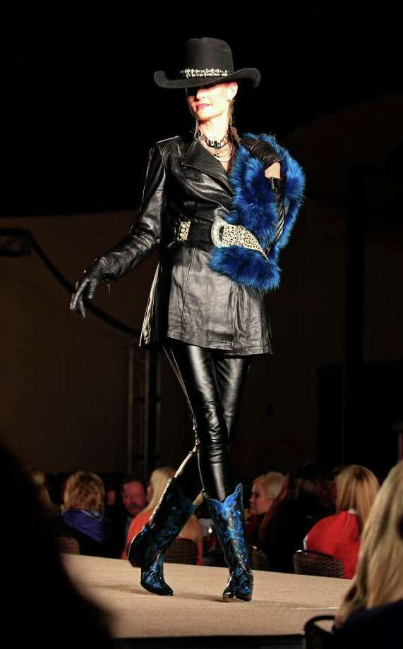Fashions from by Julian Gold San Antonio Stock Show & Rodeo 7th Annual Cowgirls Live Forever luncheon and fashion show, honoring Olive Anne Kleberg Thursday, January 19, 2012 at the Pearl Stable in San Antonio. Photo: J. MICHAEL SHORT, SPECIAL TO THE EXPRESS-NEWS / THE SAN ANTONIO EXPRESS-NEWS