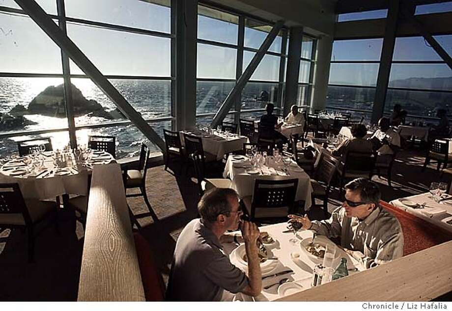 Sutro's, a new restaurant that's part of the Cliff House's renovation project. At left is Allan Lipman and at right is Stanley Wolf. Shot on 9/10/04 in San Francisco. LIZ HAFALIA / The Chronicle Photo: LIZ HAFALIA
