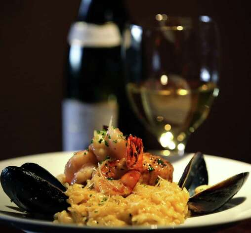 The Butternut Squash Risotto with Seafood at Tost Bistro and Bar, Monday, Jan. 23, 2012.  Bob Owen/Express-News Photo: BOB OWEN, San Antonio Express-News / © 2012 San Antonio Express-News