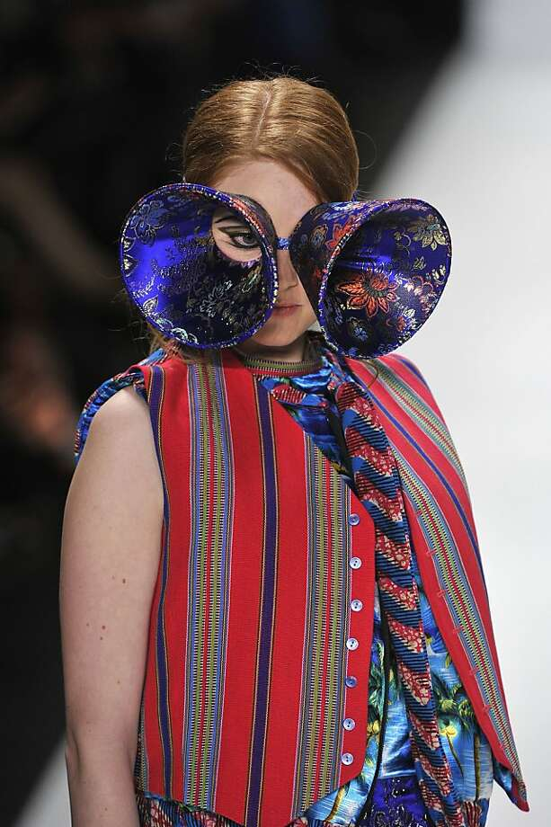 BERLIN, GERMANY - JANUARY 20:  A model wearing Elin Engstrom walks the runway at the Baltic Fashion Catwalk Autumn/Winter 2012 fashion show during Mercedes-Benz Fashion Week Berlin at Brandenburg Gate on January 20, 2012 in Berlin, Germany.  (Photo by Gareth Cattermole/Getty Images) Photo: Gareth Cattermole, Getty Images
