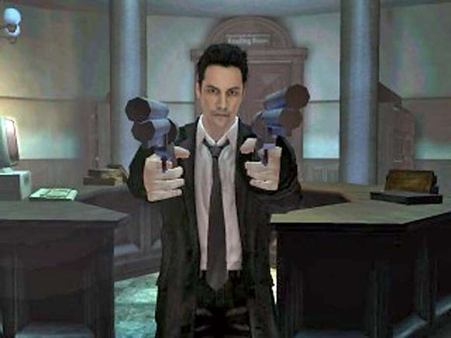 "Image still from the game ""Constantine."""
