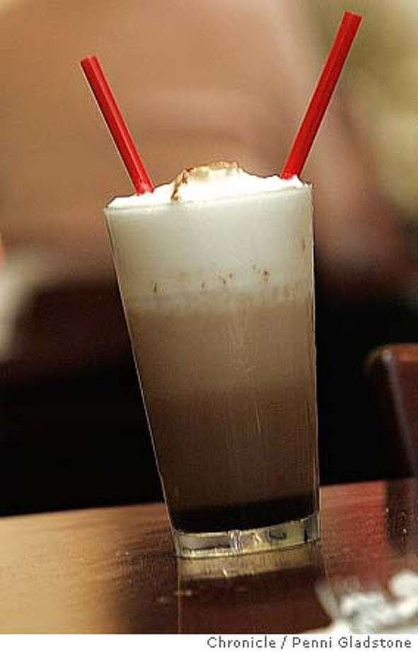New York egg cream Miller's East Coast West Deli is the restaurant review. 9/2/04 in San Francisco.  Penni Gladstone / The Chronicle Photo: Penni Gladstone