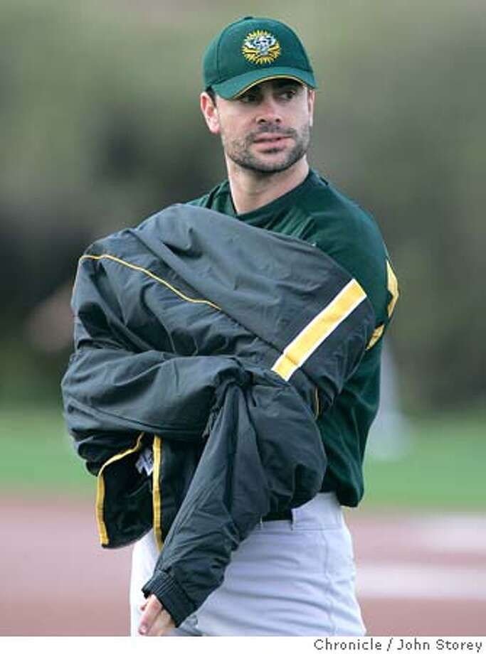 The A's newly acquired catcher Jason Kendall.  The Oakland A's first day of Spring Training in Phoenix. Event on 2/20/05 in Phoenix. John Storey / The Chronicle Photo: John Storey