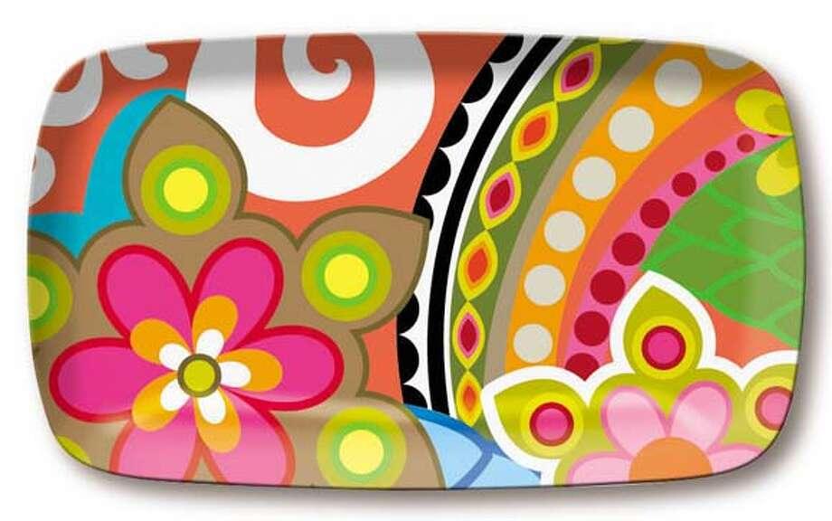 Melamine platter by French Bull, $18