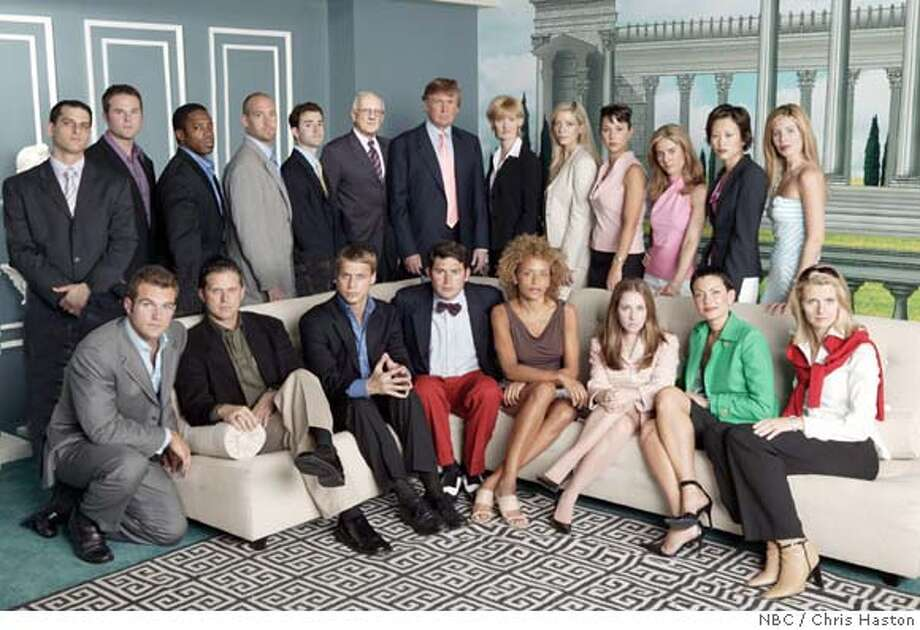 GOODMAN08_002.JPG THE APPRENTICE -- NBC Alternative Series -- Pictured: (l-r) Back Row: Chris, Robert, Kevin, Bradford, Andy, George Ross, Donald Trump, Carolyn Kepcher, Jennifer M., Jennifer C., Elizabeth, Ivana, Sandy. Front Row: John, Kelly, Wes, Raj, Stacie J., Stacy R., Maria, Pamela Chris Haston / NBC Photo: CHRIS HASTON