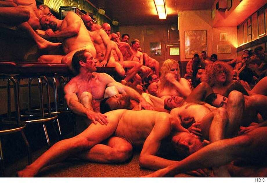 """frame07_naked.JPG HBO documentary movie """"Positively Naked,"""" it depicts 85 HIV-positive people who posed naked in a Manhattan restaurant as part of an art installation. HANDOUT"""