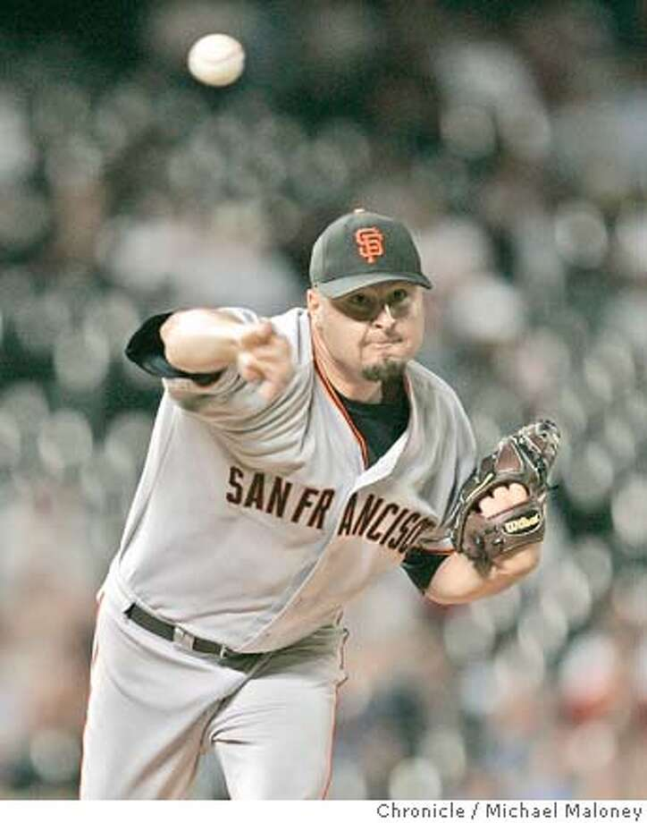 Giants starting pitcher Jason Schmidt.  SF Giants vs Colorado Rockies at Coors Field in Denver, Colorado.  Photo by Michael Maloney / San Francisco Chronicle Photo: Michael Maloney