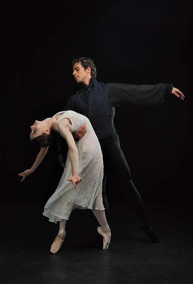 "San Francisco Ballet's Maria Kochetkova and Vitor Luiz in John Cranko's ravishing drama ""Onegin."" Photo: Maria Kochetkova And Vitor Luiz"