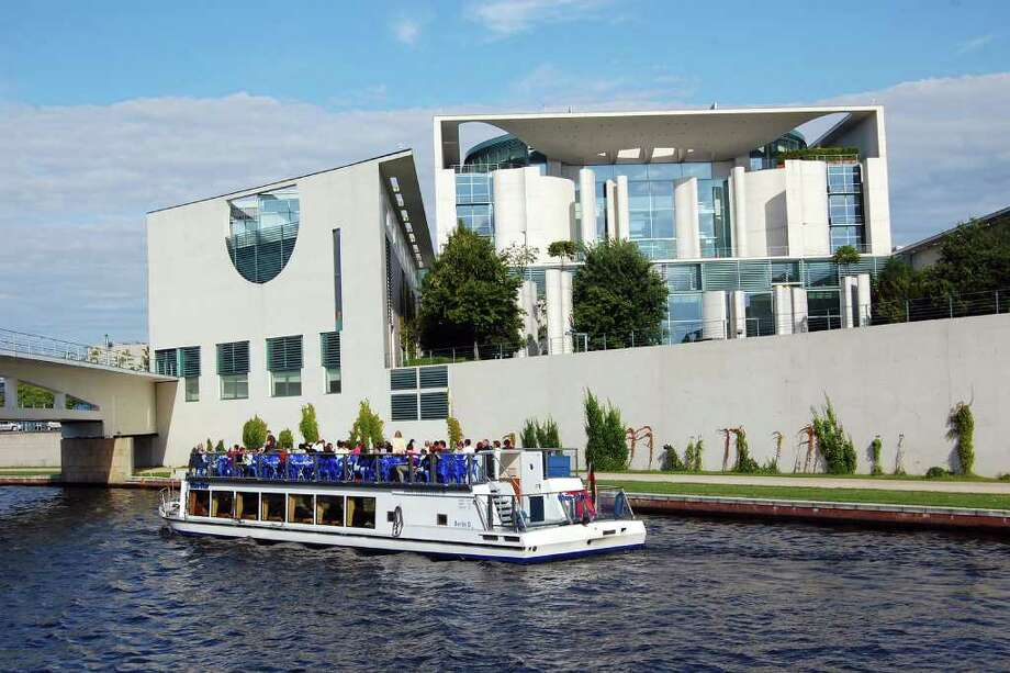 A leisurely boat tour on the Spree River is one of the best ways to view the cutting-edge architecture — like the Chancellery — rising throughout Berlin. Photo: Rick Steves, Ricksteves.com