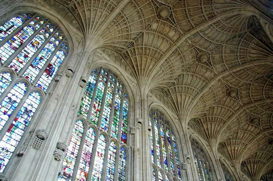 The roof of King's College Chapel in Cambridge has 2,000 tons of incredible fan vaulting. Photo: Cameron Hewitt, Ricksteves.com