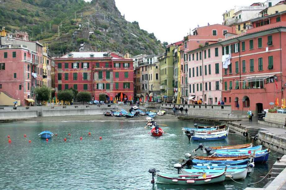 Vernazza's pristine harbor, before rainstorms and floods ravaged the town. Photo: Deanna Russell Woodruff, Ricksteves.com