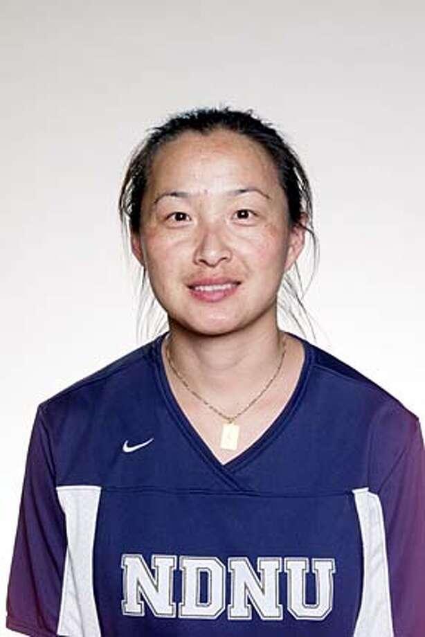 pnzhou03.JPG Now Yang Zhou stars for the Notre Dame de Namur University soccer team. Courtesy of Notre Dame de Namur University