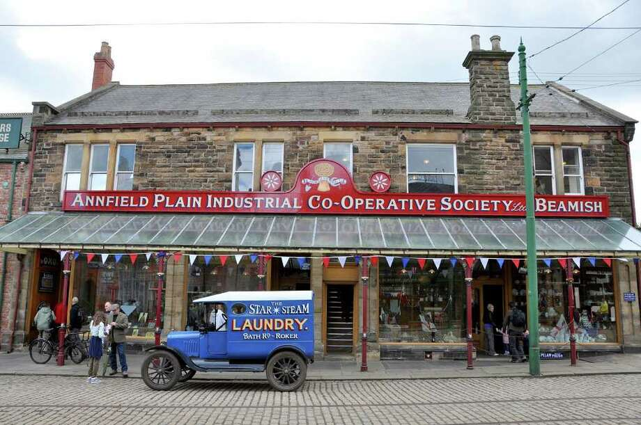 At the Beamish Museum outside of Durham, England, this Edwardian-era street from 1913 features a grocery, clothing store, working pub, and heavenly smelling candy store. Photo: Cameron Hewitt, Ricksteves.com
